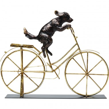 Deco Object Dog With Bicycle Kare Design