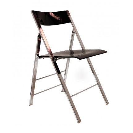 Chaise pliante rétro transparente Kare Design