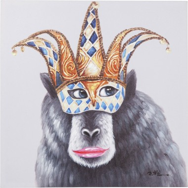 Picture Touched Carnival Monkey 70x70cm Kare Design