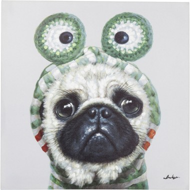 Picture Touched Frog Dog 70x70cm Kare Design