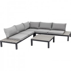 Outdoor Sofa Set Holiday Black (4-Pieces) Kare Design