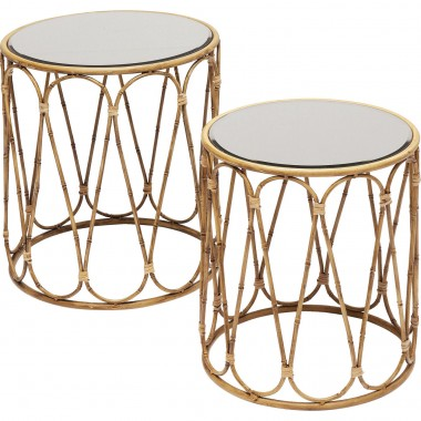 Side Table Bamboo Loop (2/Set) Kare Design