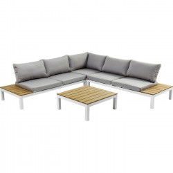 Outdoor Sofa Set Holiday White (4-Pieces) Kare Design