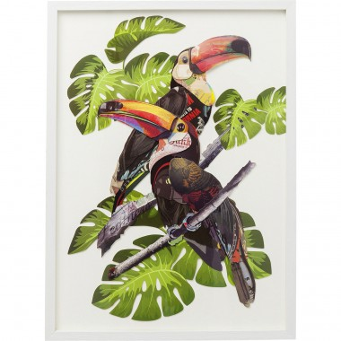 Picture Frame Art Paradise Bird Couple 70x50cm Kare Design