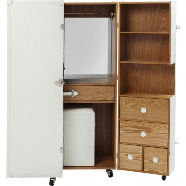 Wardrobe Trunk Office Croco White Kare Design
