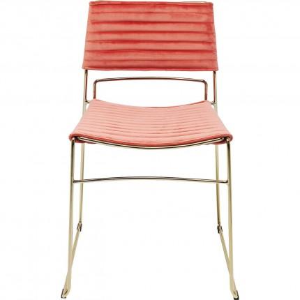 Chair Hugo Mauve Gold Kare Design