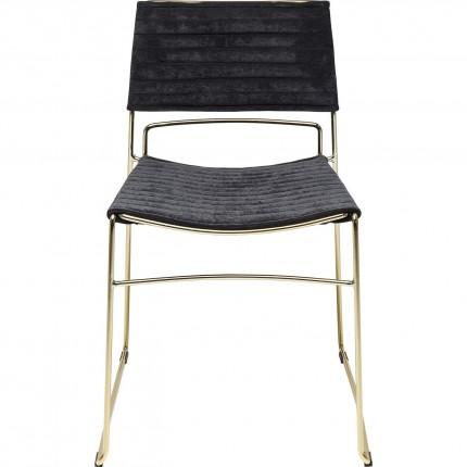 Chair Hugo Black Gold Kare Design