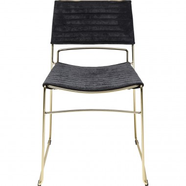 Chair Hugo Black Gold Kare Design