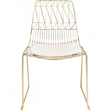 Chaise Solo beige et dorée Kare Design