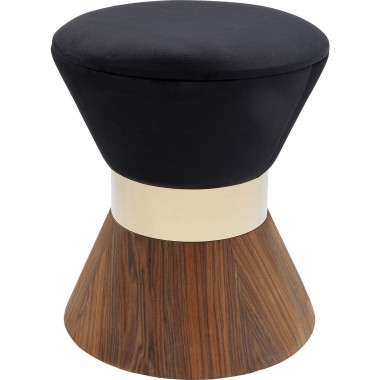 Stool Lilly Taille Black Ø40cm Kare Design