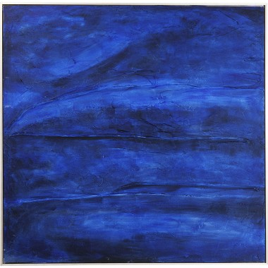 Oil Painting Abstract Deep Blue 155x155cm Kare Design