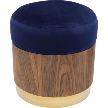 Stool Lilly Blue Ø39cm Kare Design