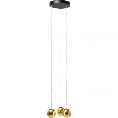 Pendant Lamp Spool Spiral Gold LED Kare Design
