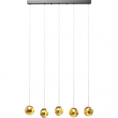 Pendant Lamp Spool Cinque Gold LED Kare Design