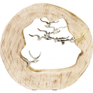 Deco Object Birds In Log Kare Design