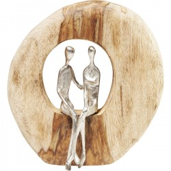 Deco Object Couple In Log Kare Design