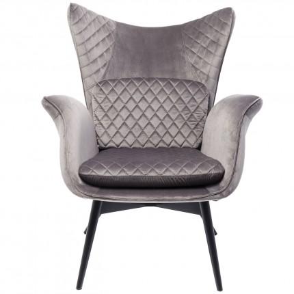 Armchair Tudor Velvet Silvergrey Kare Design