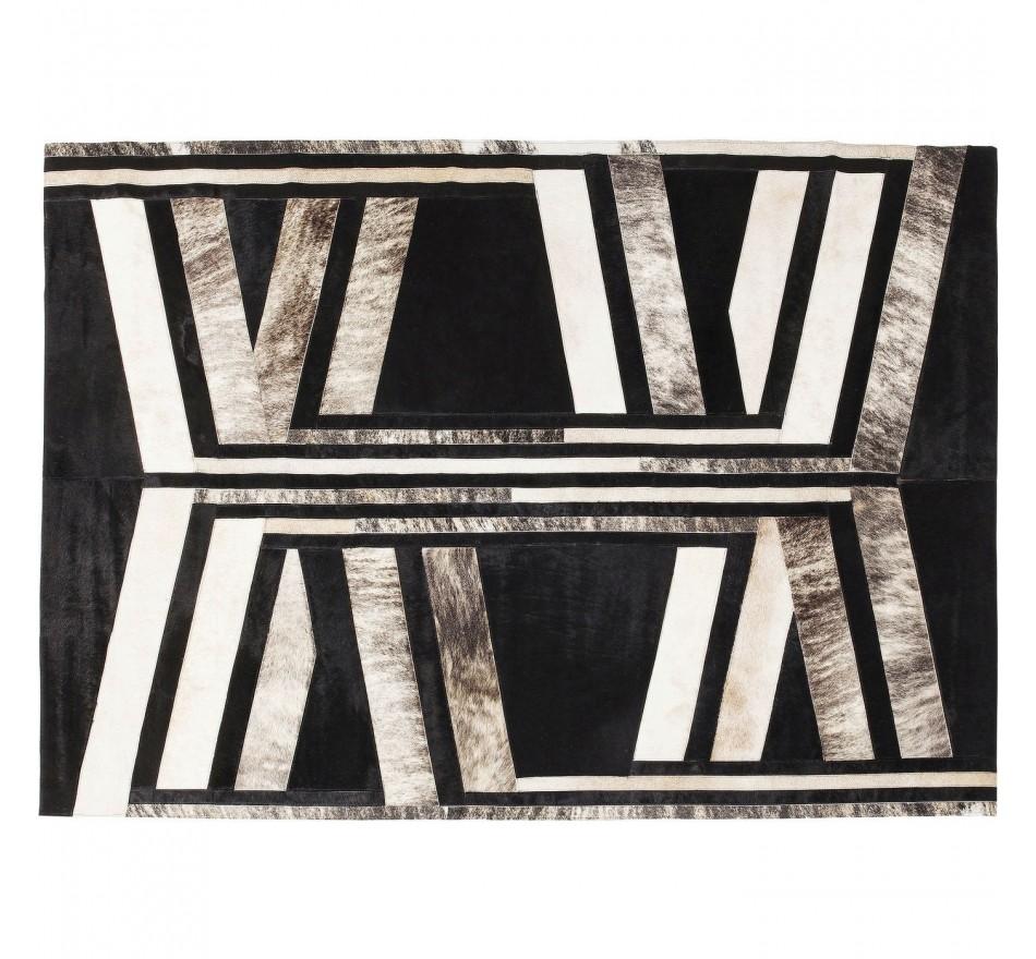 Ethnic Rug Modern Inca Kare Design, Inca Contemporary Full Length Leaner Mirror Black