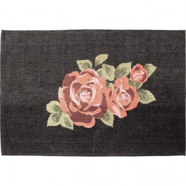 Carpet Roses Black 240x170cm Kare Design