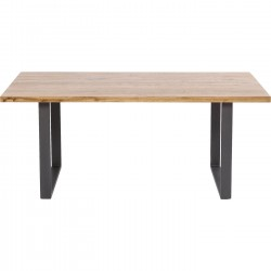 Table Jackie Oak GK Crude Steel 180x90cm Kare Design