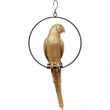 Deco Object Swinging Parrot Gold Kare Design
