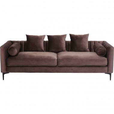Sofa 3-Seater Variete Brown Kare Design