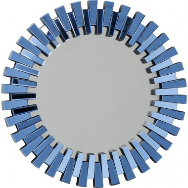 Mirror Sprocket Blue Ø92cm Kare Design