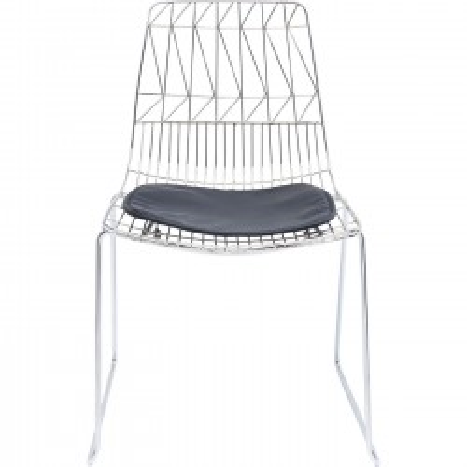 Chair Solo Black Chrome Kare Design