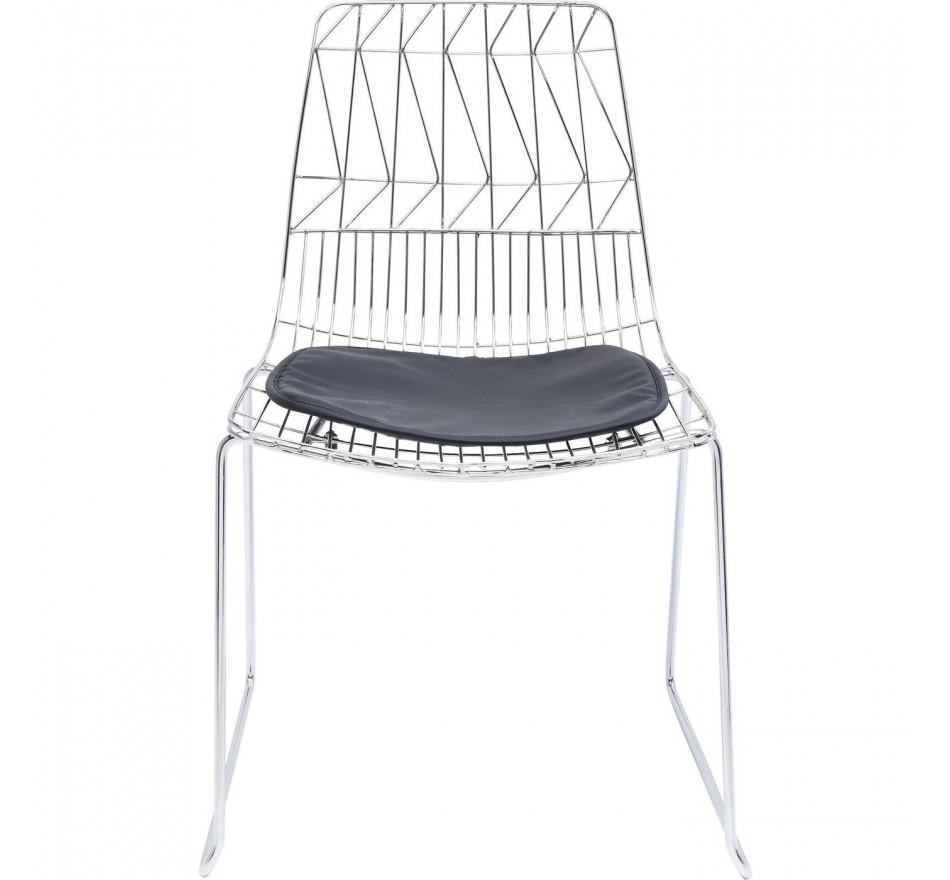 Chaise Solo noire et chromée Kare Design