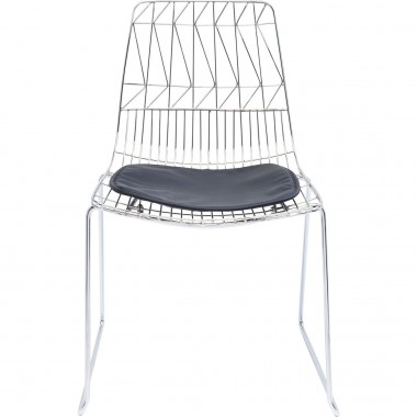 Chair Solo Black Chrome Kare Design