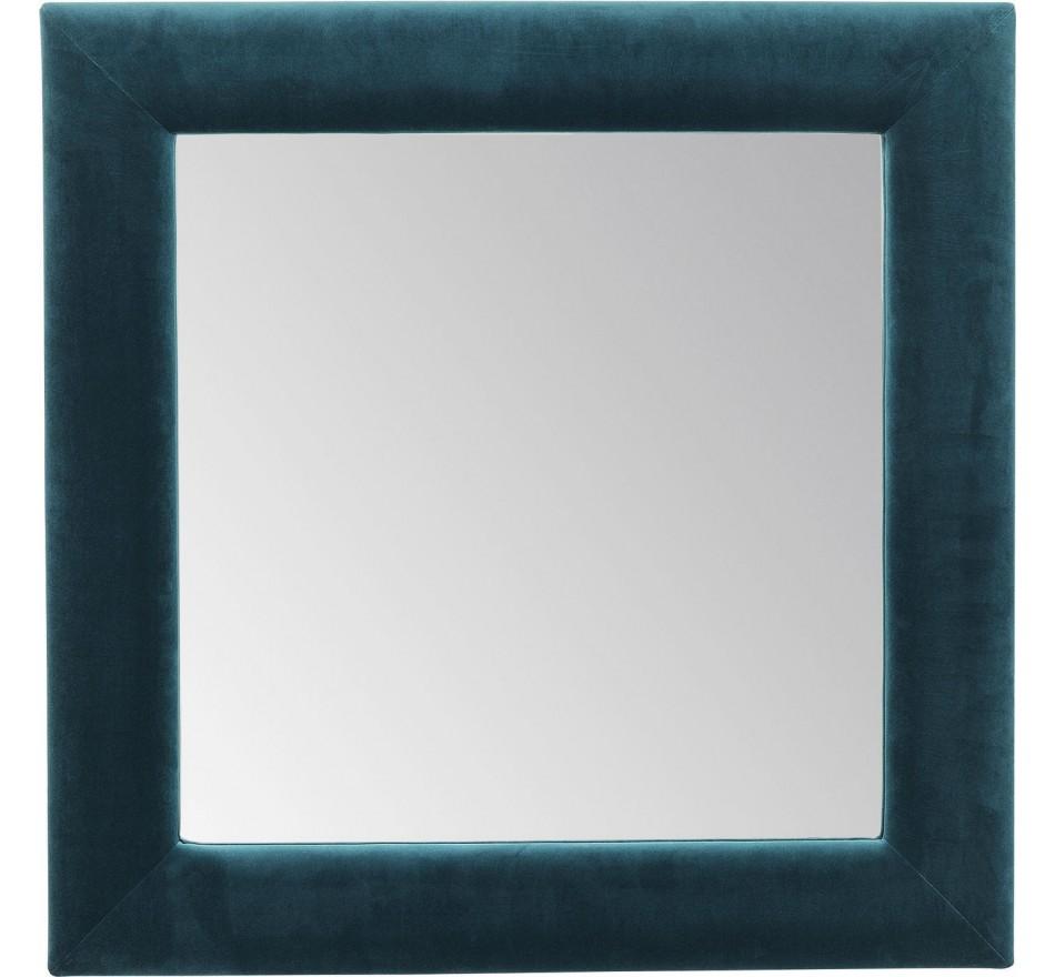 Mirror Velvet Bluegreen Square 100x100cm Kare Design