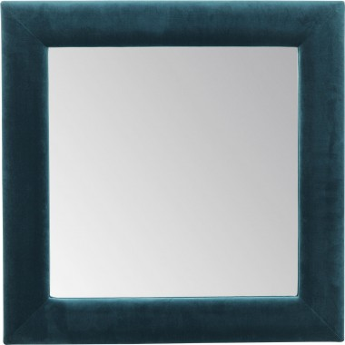 Mirror Velvet Bluegreen Square 100x100cm Kare Design