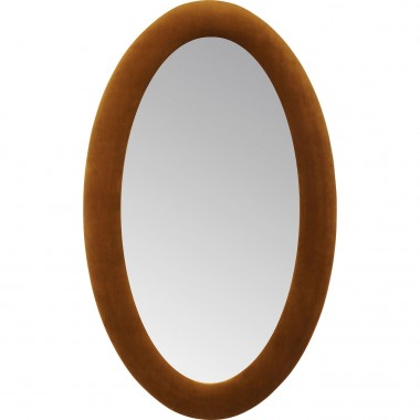 Mirror Velvet Brown Oval 150x90cm Kare Design