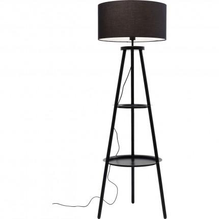 Driepoot Stappen staande lamp zwart Kare Design
