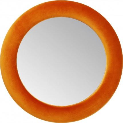 Mirror Velvet Orange Ø 92cm Kare Design