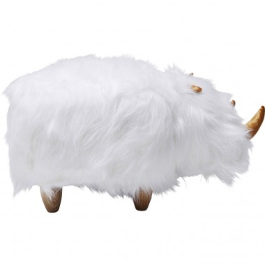 Stool Rhino Fur White Kare Design