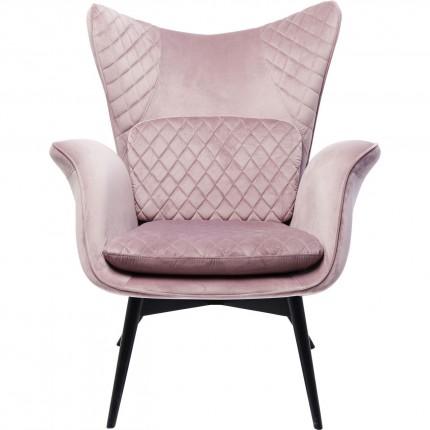 Armchair Tudor Velvet Rose Kare Design