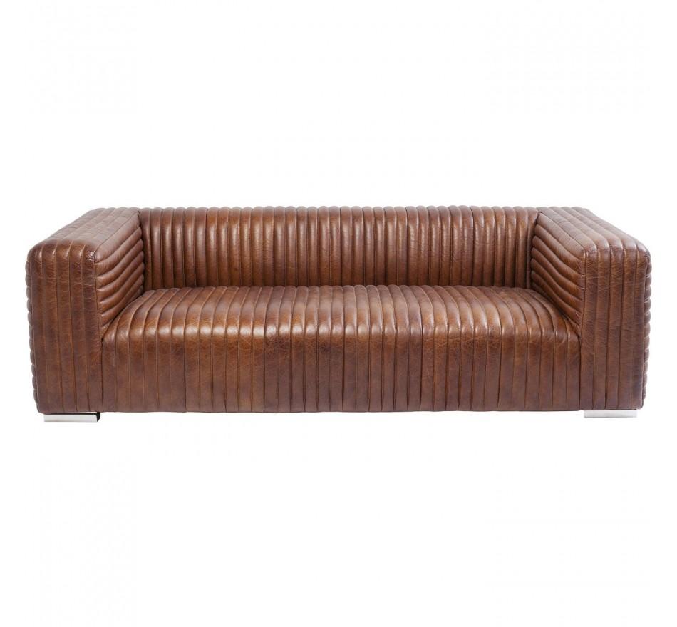 3 Seater Leather Sofa Malibu Kare