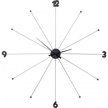 Wall Clock Like Umbrella Black Kare Design