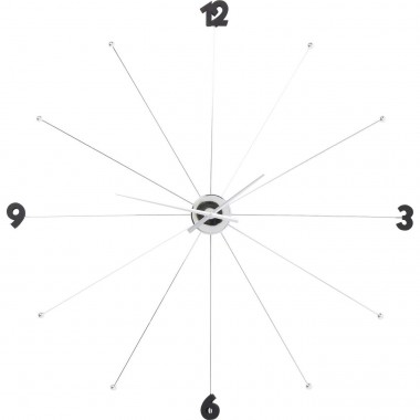 Wall Clock Like Umbrella Chrome Kare Design