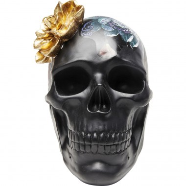 Deco Object Flower Skull 22cm Kare Design