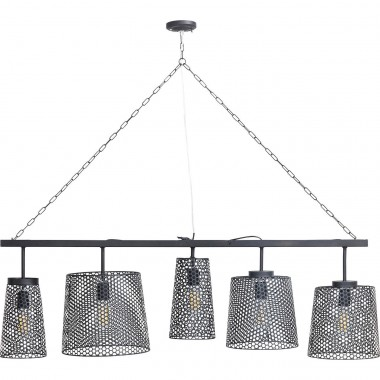 Hanging Lamp Gorgeous Black Mat Cinque Kare Design