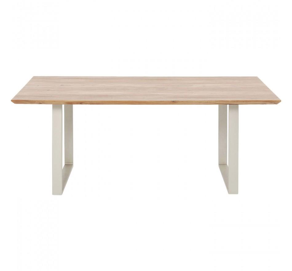 Table Symphony argent 200x100cm Kare Design