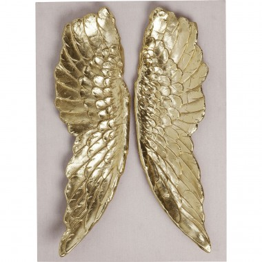 Wall Decoration Wings Gold 110x80cm Kare Design