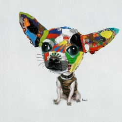 Oil Painting Chihuahua 50x50cm Kare Design