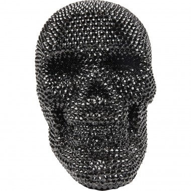 Deco Object Crystal Skull Black Kare Design