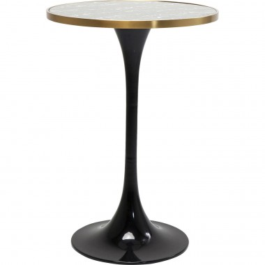 Bar Table San Remo Black Round 100x70cmØ Kare Design
