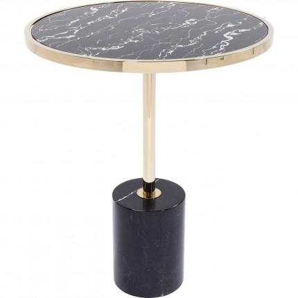 Table d'appoint San Remo marbre noir 46cm Kare Design
