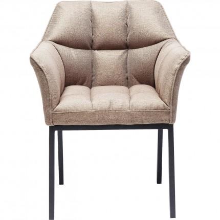 Chair with Armrest Thinktank Light Brown Kare Design