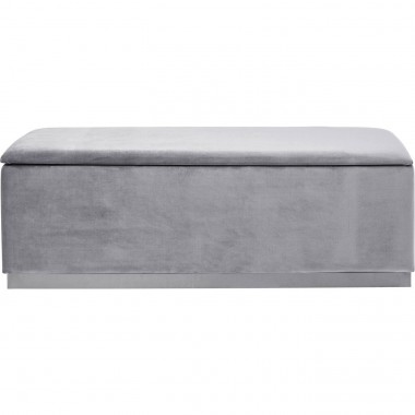Bench Cherry Storage Grey  120cm Kare Design